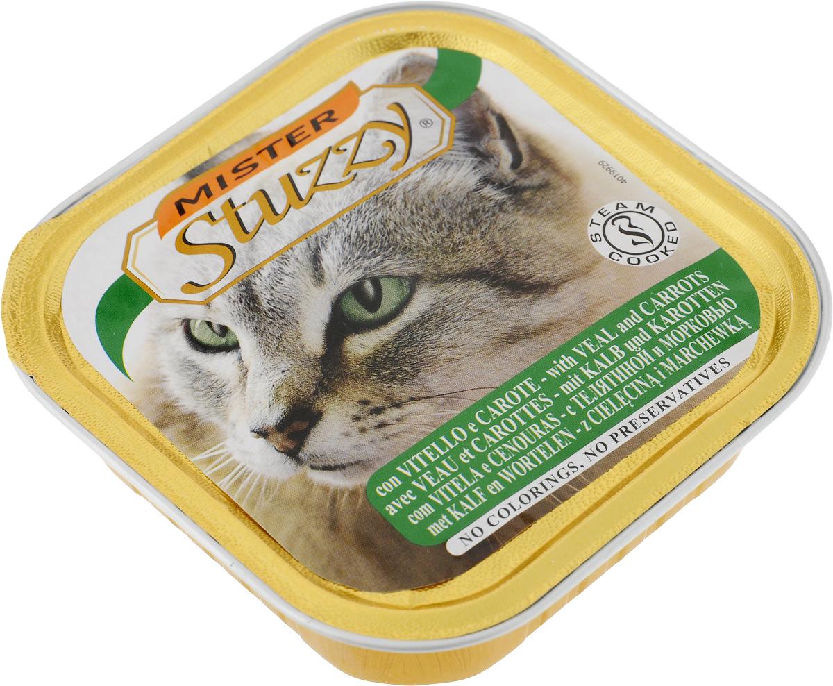 """Stuzzy / Штуззи Консервы для кошек Stuzzy """"Mister"""", с телятиной и морковью, 100 г 131.C205"""