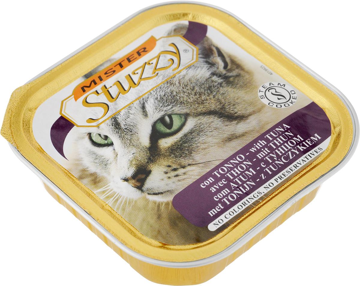 Консервы для кошек Stuzzy Mister, с тунцом, 100 г131.C201Stuzzy Mister - это полнорационный корм для взрослых кошек. Корм обогащен таурином и витамином Е для поддержания правильной работы сердца и иммунной системы. Инулин обеспечивает всасывание питательных веществ, а биотин способствуют великолепному внешнему виду кожи и шерсти. Корм приготовлен на пару, не содержит красителей и консервантов. Товар сертифицирован.