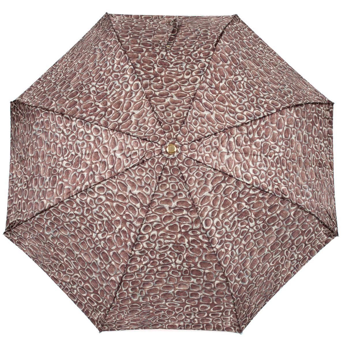 Зонт складной женский Stilla, цвет: темно-коричневый. 572/2 mini572/2 miniОблегченный женский зонтик. Конструкция 3 сложения, полный автомат, облегченная конструкция (вес - 320 гр), система антиветер. Ткань - полиэстер. Диаметр купола - 112 см по верхней части, 101 см по нижней. Длина в сложенном состоянии - 27 см.