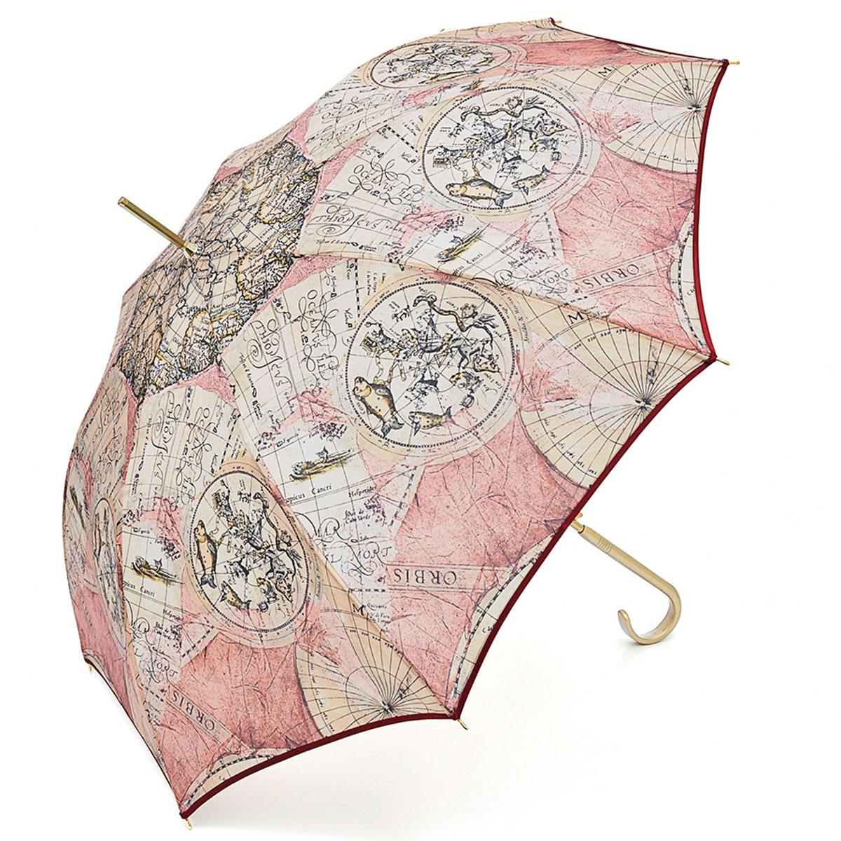 Зонт-трость женский Stilla, цвет: светло-розовый, бежевый, черный. 680/1 auto