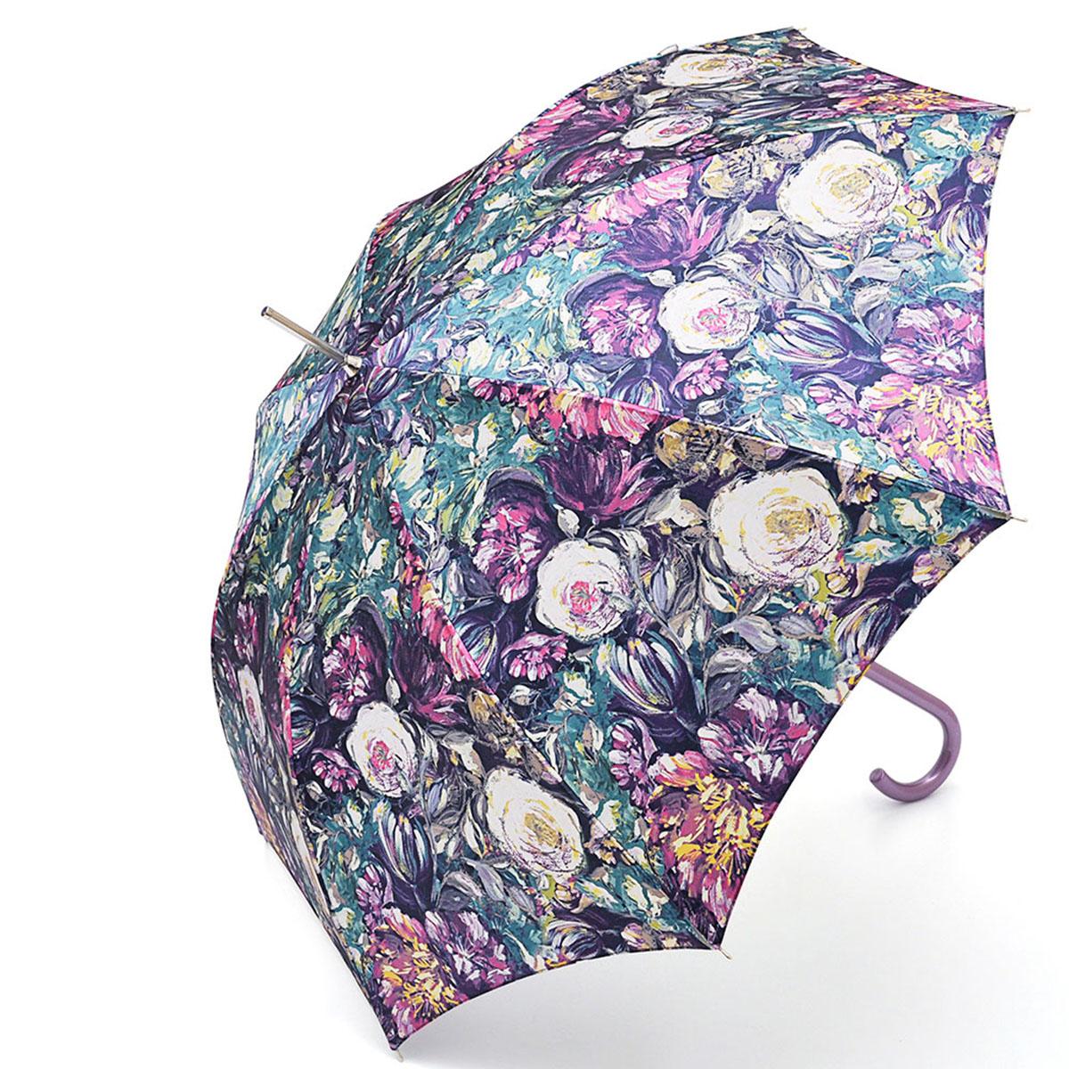Зонт-трость женский Stilla, цвет: мультиколор. 694/2 auto694/2 autoЗонт-трость Stilla надежно защитит вас от дождя. Купол, оформленный оригинальным принтом, выполнен из высококачественного ПВХ, который не пропускает воду. Каркас зонта и спицы выполнены из высококарбонистой стали. Зонт имеет автоматический тип сложения: открывается и закрывается при нажатии на кнопку. Удобная ручка выполнена из пластика.