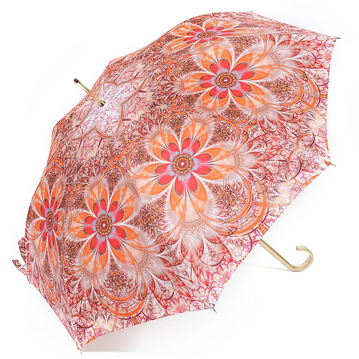 Зонт-трость женский Stilla, цвет: красный, оранжевый, белый. 722/4 auto
