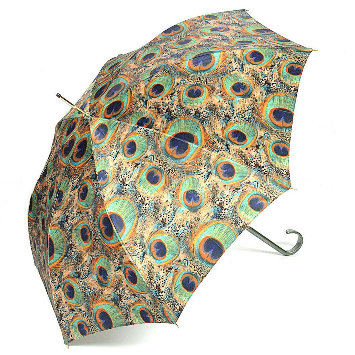 Зонт-трость женский Stilla, цвет: песочный, бирюзовый. 726/1 auto726/1 autoЗонт-трость Stilla надежно защитит вас от дождя. Купол, оформленный оригинальным принтом, выполнен из высококачественного ПВХ, который не пропускает воду. Каркас зонта и спицы выполнены из высококарбонистой стали. Зонт имеет автоматический тип сложения: открывается и закрывается при нажатии на кнопку. Удобная ручка выполнена из пластика.