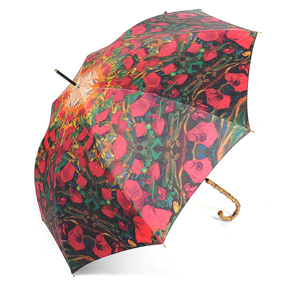 Зонт-трость женский Stilla, цвет: красный, зеленый. 728/2 auto728/2 autoЗонт-трость Stilla надежно защитит вас от дождя. Купол, оформленный оригинальным принтом, выполнен из высококачественного ПВХ, который не пропускает воду. Каркас зонта и спицы выполнены из высококарбонистой стали. Зонт имеет автоматический тип сложения: открывается и закрывается при нажатии на кнопку. Удобная ручка выполнена из пластика.