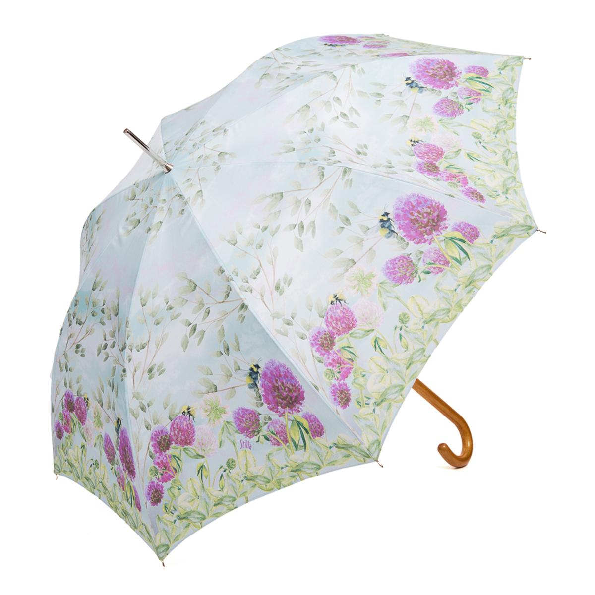 Зонт-трость женский Stilla, цвет: голубой, зеленый, пурпурный. 757/1 auto