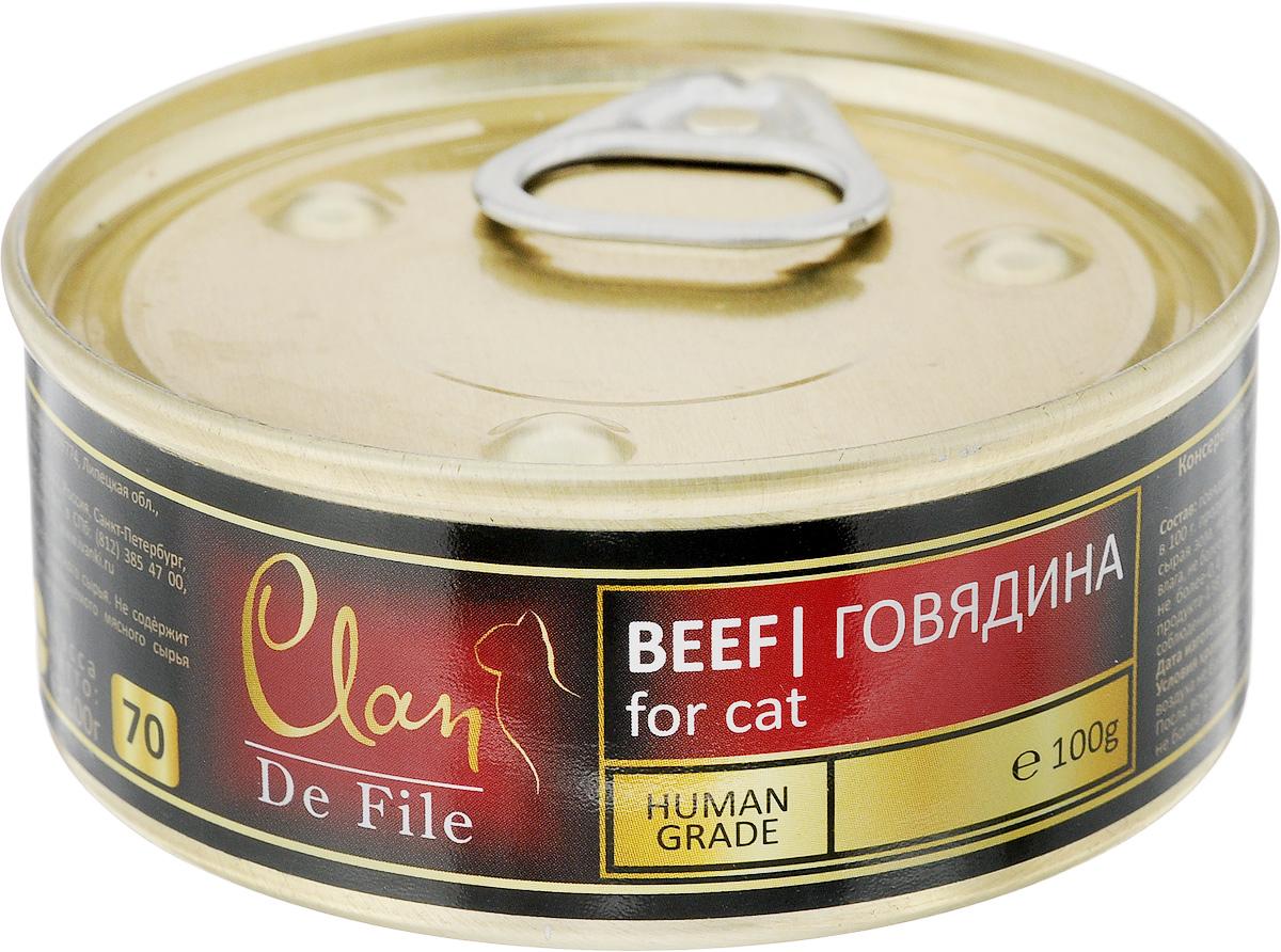 """Консервы для кошек Clan """"De File"""", с говядиной, 100 г 130.3.001"""