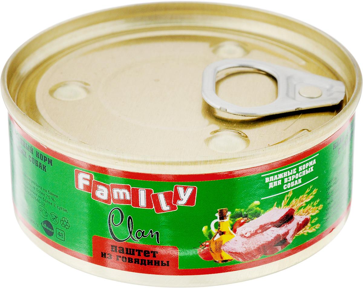 Консервы для взрослых собак Clan Family, паштет из говядины, 100 г130.1.850Clan Family - влажный корм для каждодневного питания взрослых собак. Консервы изготовлены из высококачественного мясного сырья. Для производства корма используется щадящая технология, бережно сохраняющая максимум питательных веществ и витаминов, отборное сырье и специально разработанная рецептура, которая обеспечивает продукции изысканный деликатесный вкус и ярко выраженный аромат. Товар сертифицирован.