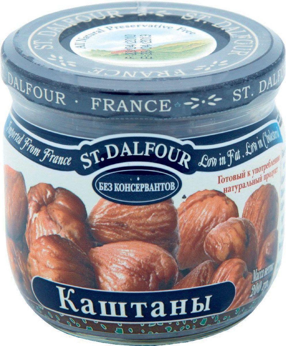 St.Dalfour Каштаны консервированные, 200 г207046Полностью натуральный продукт. Отсортированный вручную, чистый, готовый к употреблению продукт.