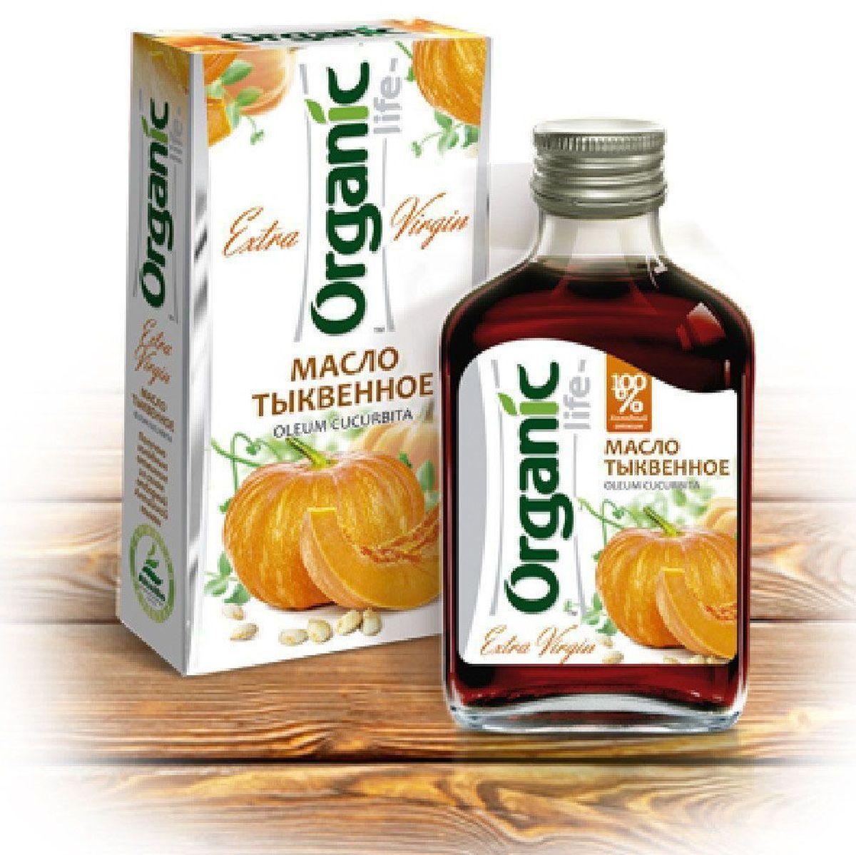 Organic Life масло тыквенное, 100 мл212022Тыквенное масло Organic Life производят из семян сорта Штирийская масляная. Это особый сорт тыквы, семена которой не покрыты шелухой. Они имеют темно-зеленый цвет благодаря тому, что содержат хлорофилл – антиоксидант, который защищает организм от преждевременного старения и воздействия свободных радикалов. Кроме того, хлорофилл улучшает транспортировку кислорода к клеткам и повышает иммунитет. Содержащиеся в тыквенном масле цинк и селен являются особенно ценными для поддержания мужского здоровья и формирования репродуктивной системы подростков. Тыквенное масло содержит кукурбитин. Эта аминокислота оказывает противоглистное действие, не вызывает интоксикации организма, не раздражает слизистую кишечника. Тыквенное масло характеризуется высокой концентрацией витаминов (А, Е, F, РР, Р, витамины группы В), минералов, фосфолипидов. Также содержит линолевую и линоленовую кислоты, которые относятся к семействам Омега-6 и Омега-3. Они благотворно влияют на работу сердечнососудистой,...