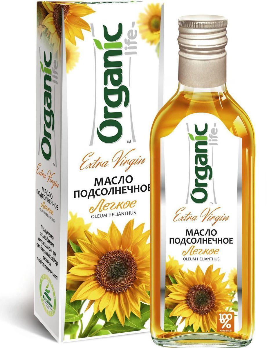 """Подсолнечное масло """"Легкое"""" марки """"Organic Life"""" из отборных семян подсолнечника особых сортов получено методом холодного отжима. Именно такой способ изготовления позволяет сохранить все полезные свойства и изысканные вкусовые качества масла, отличающегося нежным вкусом и ароматом. Мощный антиоксидант витамин Е замедляет старение клеток и делает подсолнечное масло омолаживающим продуктом. Линолевая кислота способствует укреплению иммунной защиты организма. А витамины А и D нужны для поддержания в норме зрения, хорошего состояния костей и кожи. Заправляйте салаты или готовьте любимые блюда с """"Легким"""" подсолнечным маслом и вы будете здоровы и молоды."""