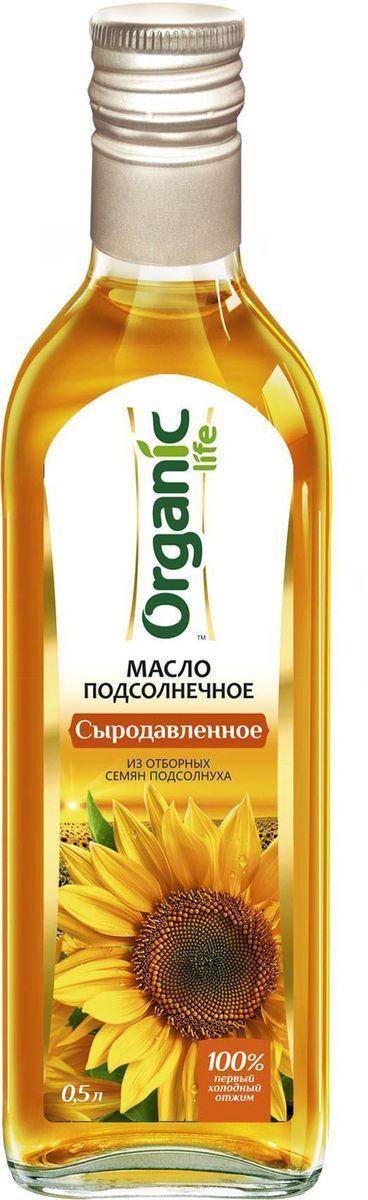 """Подсолнечное масло «Сыродавленое» марки """"Organic Life"""" получено из отборных семян подсолнечника методом холодного отжима. Именно такой способ изготовления позволяет сохранить все полезные свойства и изысканные вкусовые качества масла. Мощный антиоксидант витамин Е замедляет старение клеток и делает подсолнечное масло омолаживающим продуктом. Линолевая кислота способствует укреплению иммунной защиты организма. А витамины А и D нужны для поддержания в норме зрения, хорошего состояния костей и кожи. Выраженный вкус и аромат масла и его ценные компоненты сделают ваши любимые блюда аппетитными и полезными."""