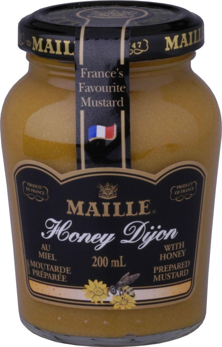 Maille Горчица с медом, 200 мл215303Традиционная горчица с добавлением меда, созданная по старинному французскому рецепту, имеет пикантный вкус. Подходит для блюд из свинины.
