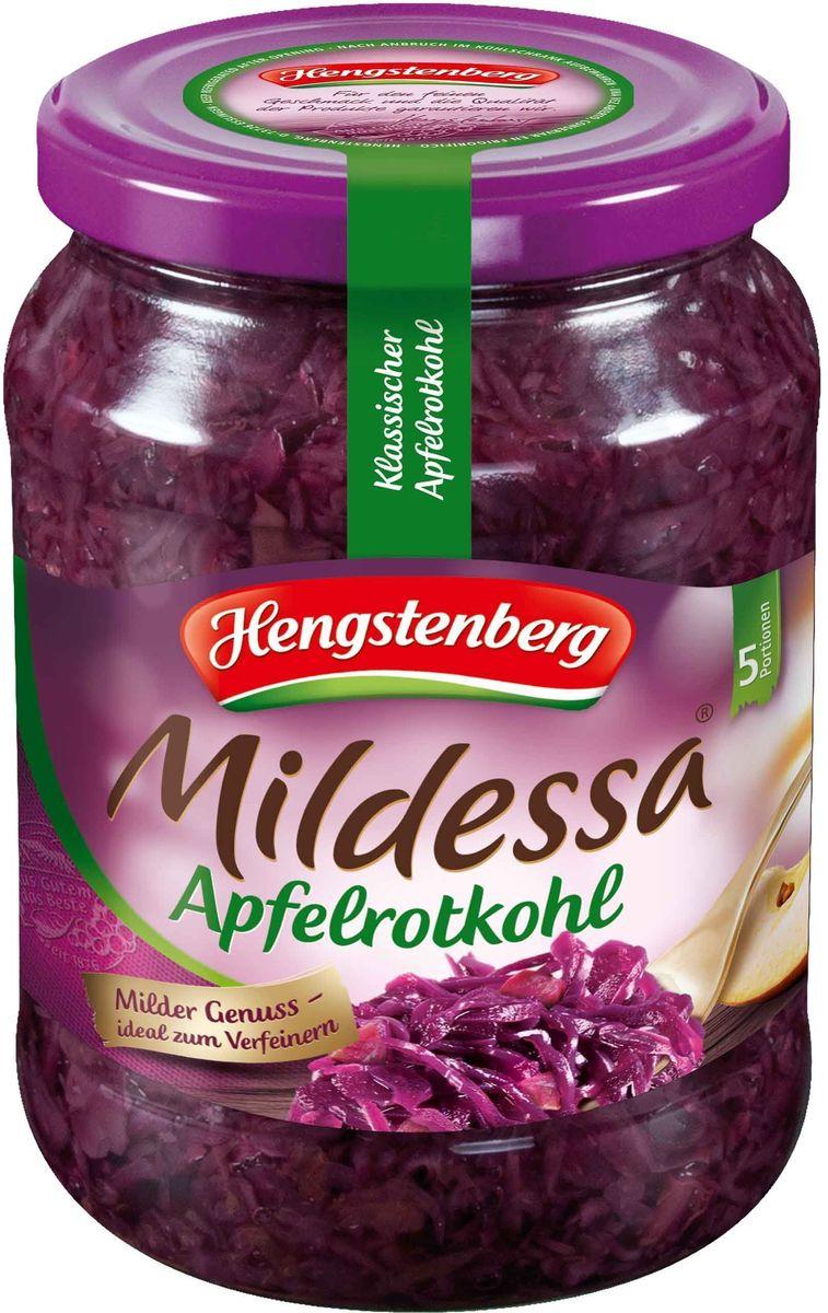 Hengstenberg Милдесса капуста краснокочанная с яблоками, 720 мл257360