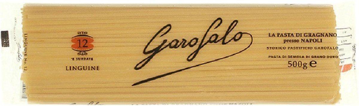 Garofalo Лингуине тонкие полосы лапши № 12 , 500 г259501Тонкие полосы лапши, длина 26 см. В отличие от спагетти, лингуине достаточно крупные, чтобы подаваться с густыми соусами, например с соусом маринара.