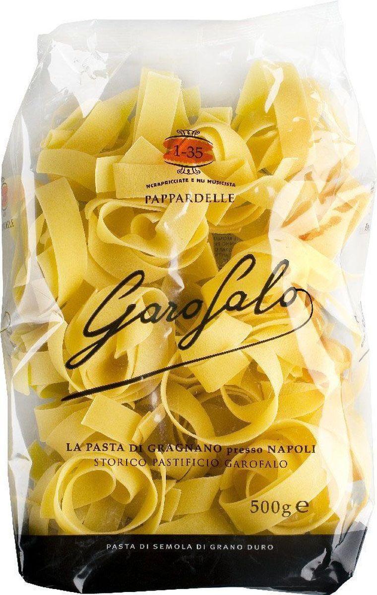 Garofalo Папарделле Нидо плоская лапша № 135, 500 г259510Плоская лапша шириной около 2 см. Прекрасно подходит для сливочных и сырных соусов.