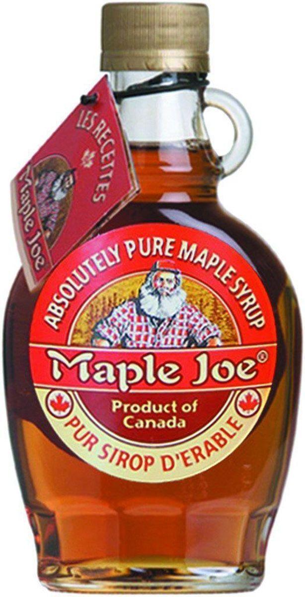 """Канадский кленовый сироп """"Maple Joe"""" в оригинальном стеклянном кувшине 250 г. 100% кленовый сироп без добавления сахара:сладость достигается за счет натуральной глюкозы и сахарозы, полученных из сока клена."""