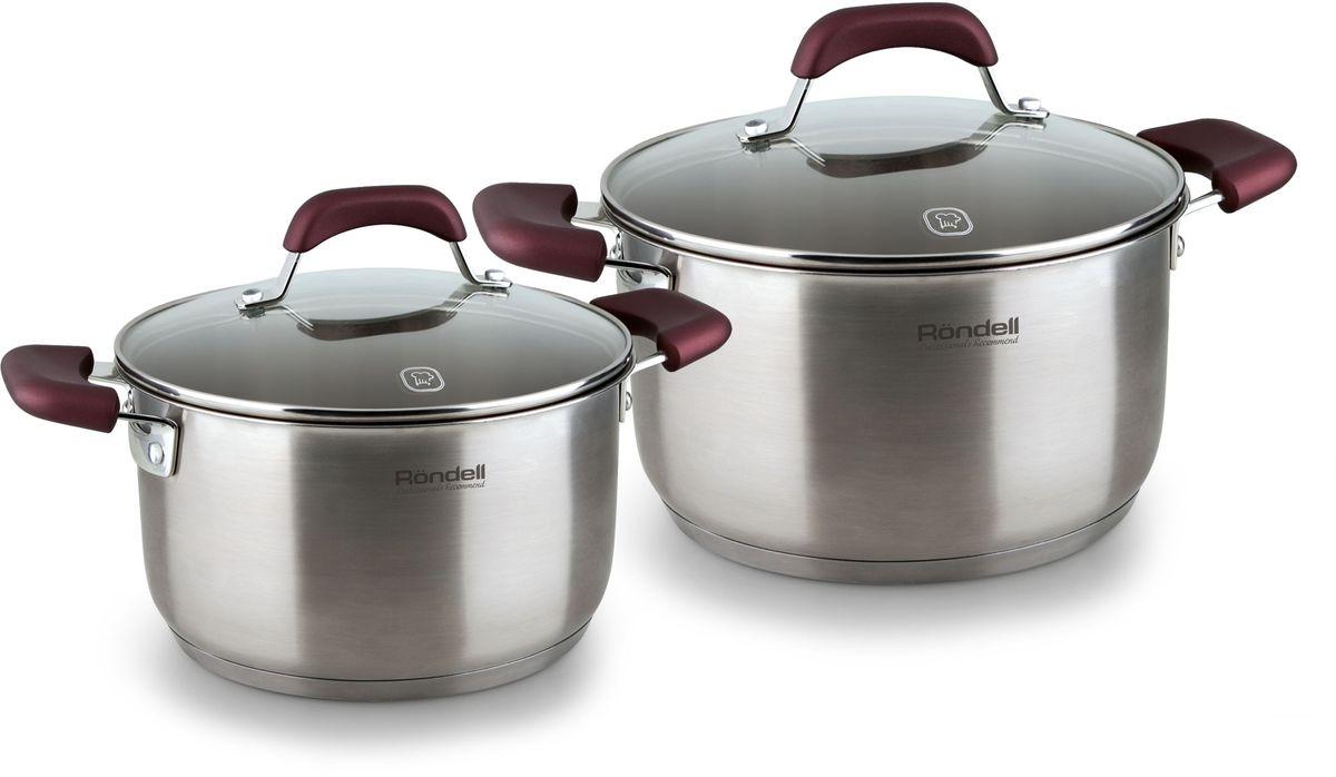 Набор посуды Rondell Bojole, 4 предмета. RDS-822RDS-822Набор 4 предмета (кастрюли 20 см, (3,3 л), 24 см, (5,6 л)) Bojole