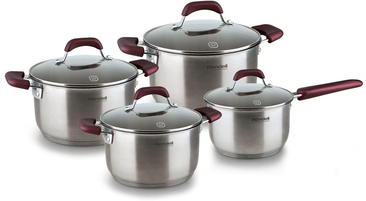 Набор посуды Rondell Bojole, 8 предметов. RDS-824RDS-824Набор 8 предметов (кастрюли 18см (2,4л), 20см, (3,3л), 24см, (5,6л), ковш 16см, 1,7л) Bojole