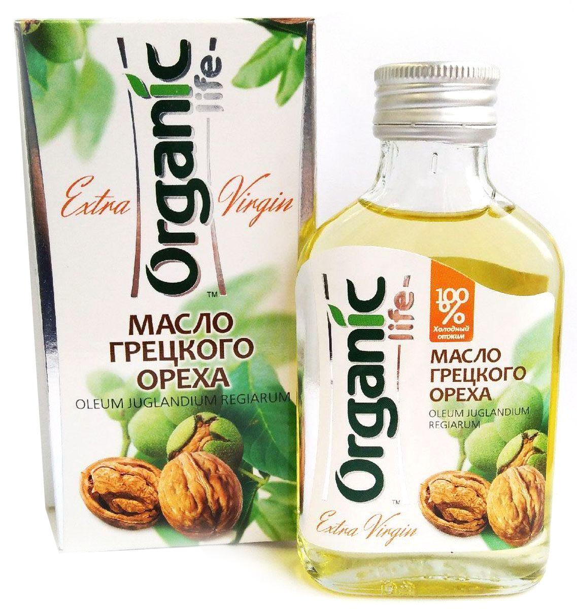 Масло грецкого ореха содержит витамины: Е, В1, В6, биотин, микроэлементы, жирные кислоты, фосфолипиды, коэнзим Q10 (вещество, обладающее антиоксидантным действием, активизирующее обмен веществ в клетках). Масло грецкого ореха благотворно влияет на работу нервной и эндокринной системы, увеличивают умственную работоспособность, нормализуют сон и снимают усталость. Отличительная особенность масла грецкого ореха – сбалансированный комплекс полиненасыщенных жирных кислот Омега-6 и Омега-3 (витамин Р), их соотношение является оптимальным - 5:1. Грецкое масло обладает нежным вкусом и ароматом, подходит для любых блюд, в том числе фруктовых салатов. Способ применения: по 1 ч.л. 2-3 раза в день. Чайная ложка масла, выпитая на голодный желудок после стакана воды, помогает наладить пищеварение.