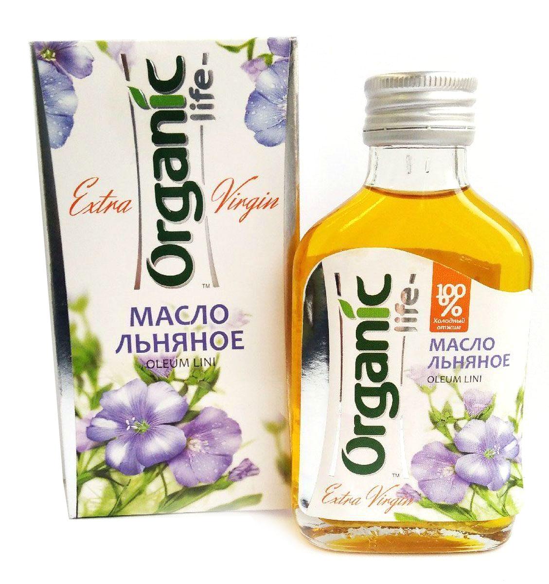 Organic Life масло льняное, 100 мл