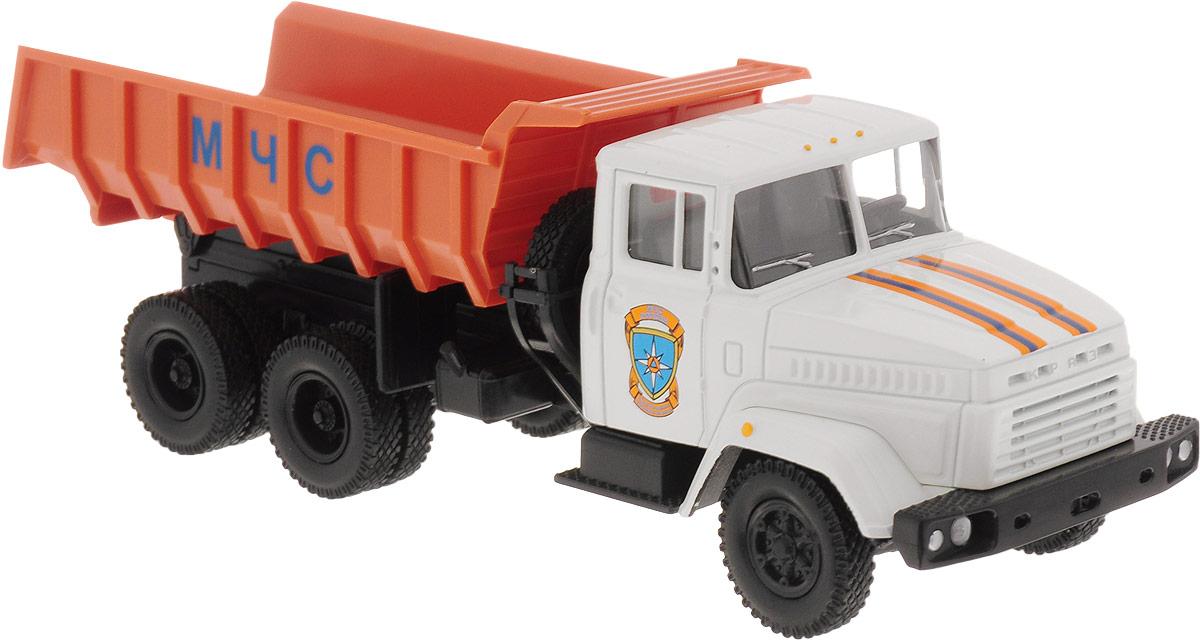 Autotime Модель автомобиля KRAZ-6510 цвет белый оранжевый autotime модель автомобиля мaz 5335 цвет оранжевый