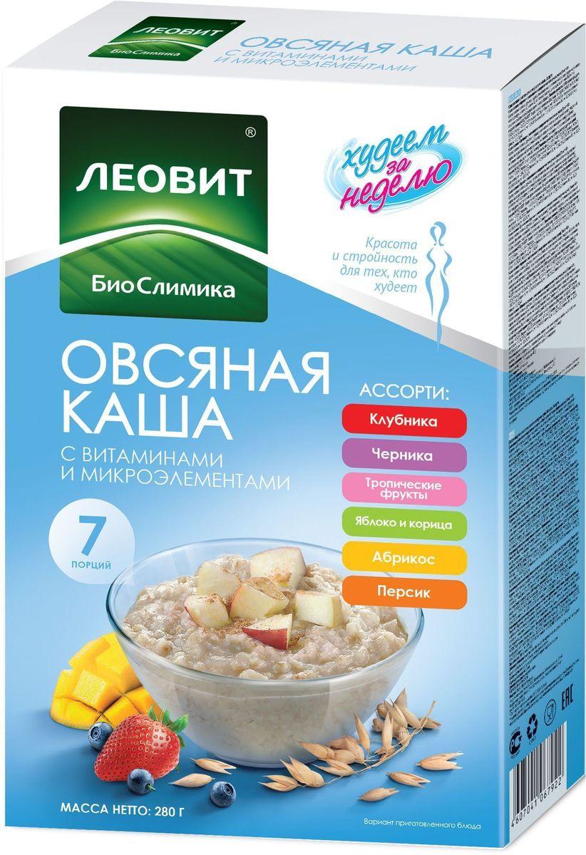БиоСлимика Каша овсяная ассорти 7 пакетов по 40 г