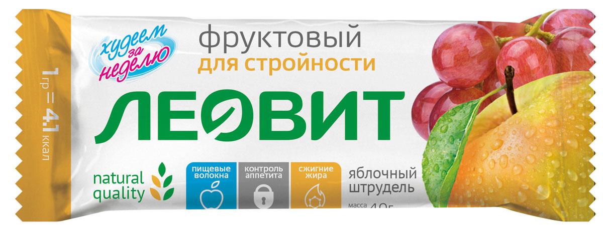БиоСлимика Яблочный штрудель батончик фруктовый, 30 г