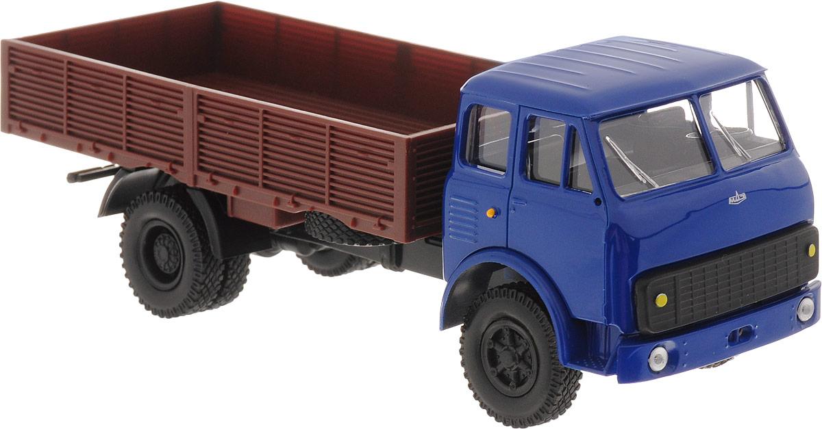 Autotime Модель автомобиля МAZ-5335 цвет синий коричневый autotime модель автомобиля мaz 5335 цвет оранжевый