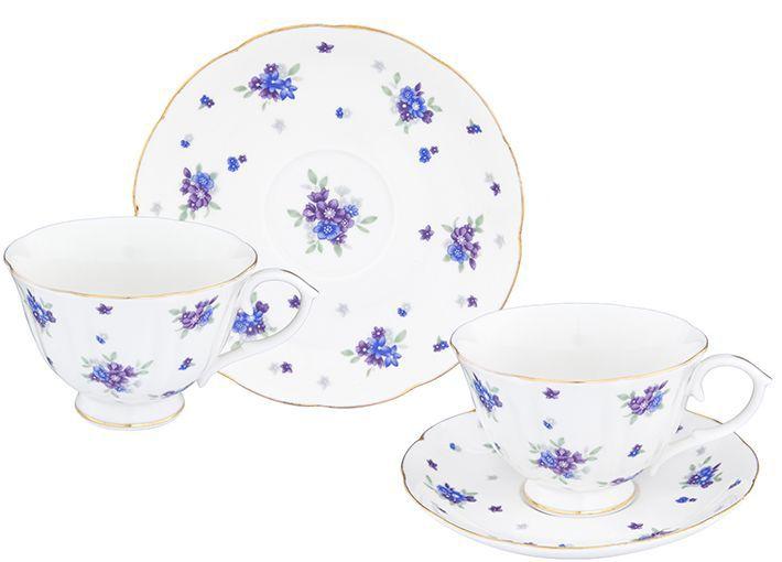 Набор чайный Elan Gallery Сиреневый туман, 12 предметов740258Чайный набор нежных тонах на 6 персон украсит Ваше чаепитие. В комплекте 6 чашек на ножке объемом 250 мл, 6 блюдец. Изделие имеет подарочную упаковку, поэтому станет желанным подарком для Ваших близких!