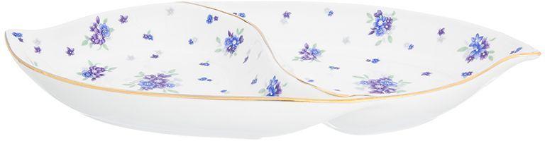 Менажница Elan Gallery Сиреневый туман, цельная, 2 секции по 300 мл740348Менажница с 2 секциями - это великолепная идея для эстетичной и удобной сервировки вашего стола: яркая, нарядная, неординарная! Объем 300 мл.