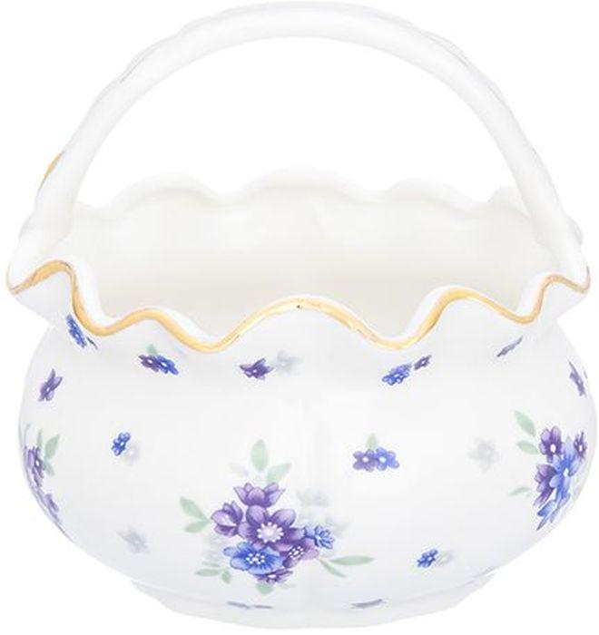 Корзинка Elan Gallery Сиреневый туман, 250 мл740463Декоративная корзинка может использоваться как конфетница. Украсит Ваш интерьер и будет прекрасным подарком для Ваших близких! Изделие имеет подарочную упаковку. Объем 250 мл.