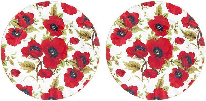 Набор десертных тарелок Elan Gallery Маки, 2 предмета740469У Вас намечается торжество и нужно накрыть большой стол - используйте набор тарелок из коллекции Маки. Они не займут много места на столе.