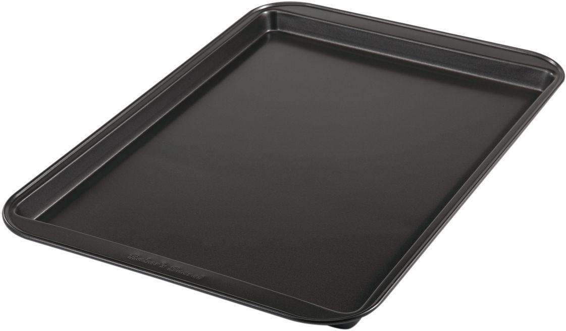 Форма для выпечки печенья Bakers Secret Essentials, 33 х 23 см, цвет: темно-серый. 11144111114411Коллекция форм для выпечки тортов Bakers Secret из США являются хорошим приобретением любой хозяйки. Данные товары пользуются спросом, поскольку их отличает высокое качество. Формы для запекания Bakers Secret - выполнены из высококачественной стали. Внешнее антипригарное покрытие для удобства ухода и утолщенные стенки гарантируют равномерное пропекание изделия. Стальные формы для запекания стали популярными намного позже чугунных и керамических, и главное их преимущество – это абсолютная химическая нейтральность. Качественная нержавеющая сталь никак не скажется на вкусе готовой пищи и не будет подвержена воздействию кислот и щелочей, содержащихся в моющих средствах. Можно мыть в посудомоечной машине.