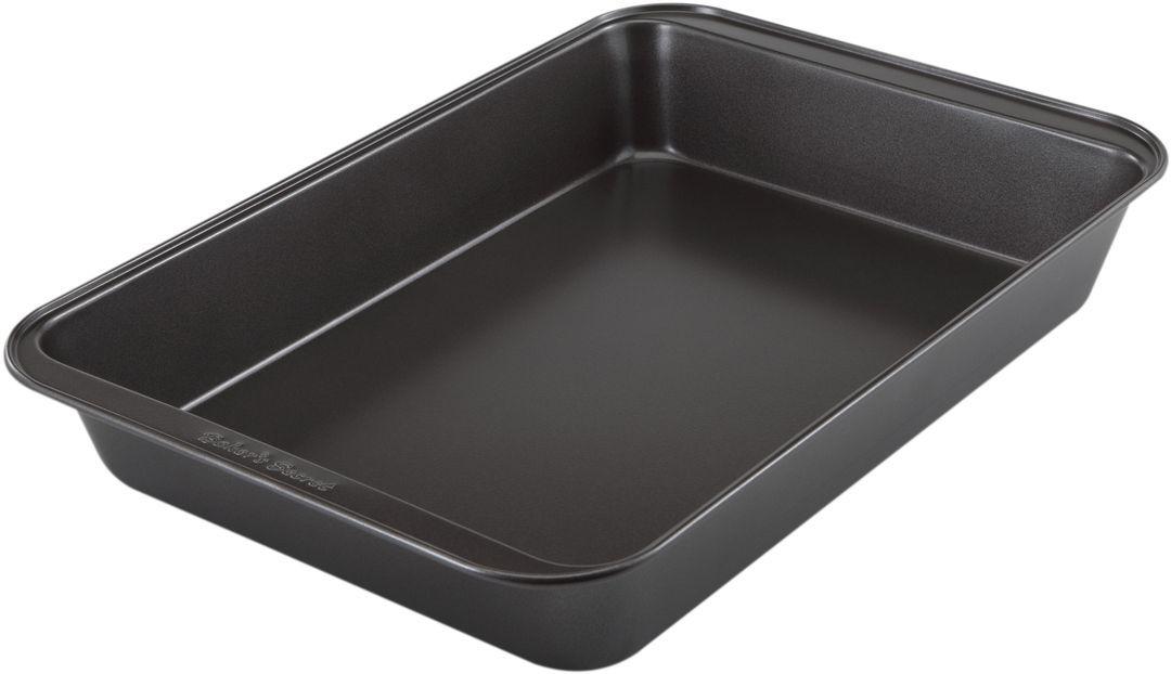 Форма для выпечки Bakers Secret Essentials, 33 х 23 см, цвет: темно-серый. 11144241114424Коллекция форм для выпечки тортов Bakers Secret из США являются хорошим приобретением любой хозяйки. Данные товары пользуются спросом, поскольку их отличает высокое качество. Формы для запекания Bakers Secret - выполнены из высококачественной стали. Внешнее антипригарное покрытие для удобства ухода и утолщенные стенки гарантируют равномерное пропекание изделия. Стальные формы для запекания стали популярными намного позже чугунных и керамических, и главное их преимущество – это абсолютная химическая нейтральность. Качественная нержавеющая сталь никак не скажется на вкусе готовой пищи и не будет подвержена воздействию кислот и щелочей, содержащихся в моющих средствах. Можно мыть в посудомоечной машине.