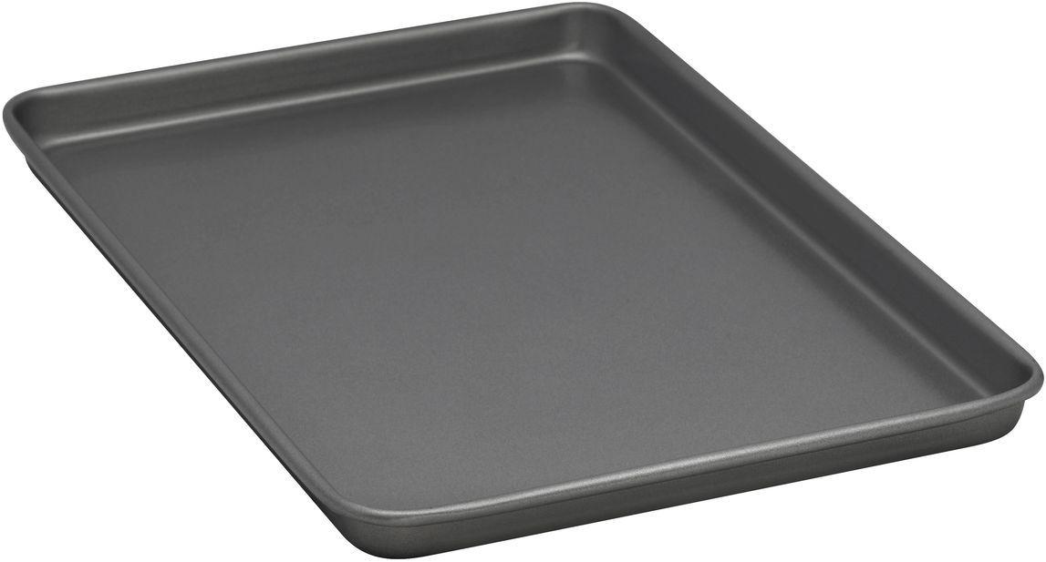 Форма для выпечки печенья Bakers Secret Essentials, 25,4 х 38,1 см, цвет: серый. 11167501116750Коллекция форм для выпечки тортов Bakers Secret из США являются хорошим приобретением любой хозяйки. Данные товары пользуются спросом, поскольку их отличает высокое качество. Формы для запекания Bakers Secret - выполнены из высококачественной стали. Внешнее антипригарное покрытие для удобства ухода и утолщенные стенки гарантируют равномерное пропекание изделия. Стальные формы для запекания стали популярными намного позже чугунных и керамических, и главное их преимущество – это абсолютная химическая нейтральность. Качественная нержавеющая сталь никак не скажется на вкусе готовой пищи и не будет подвержена воздействию кислот и щелочей, содержащихся в моющих средствах. Можно мыть в посудомоечной машине.