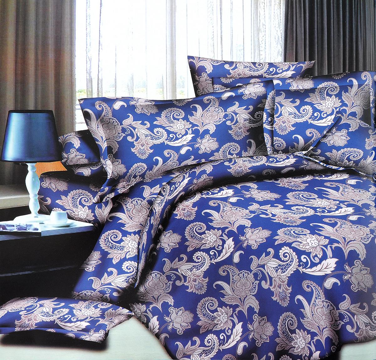 Комплект белья ЭГО Узор, 1,5-спальный, наволочки 70x70Э-2038-01Комплект постельного белья ЭГО Узор выполнен из полисатина (50% хлопка, 50% полиэстера). Комплект состоит из пододеяльника, простыни и двух наволочек. Постельное белье, оформленное оригинальным принтом, имеет изысканный внешний вид и яркую цветовую гамму. Наволочки застегиваются на клапаны. Гладкая структура делает ткань приятной на ощупь, мягкой и нежной, при этом она прочная и хорошо сохраняет форму. Ткань легко гладится, не линяет и не садится. Благодаря такому комплекту постельного белья вы сможете создать атмосферу роскоши и романтики в вашей спальне.