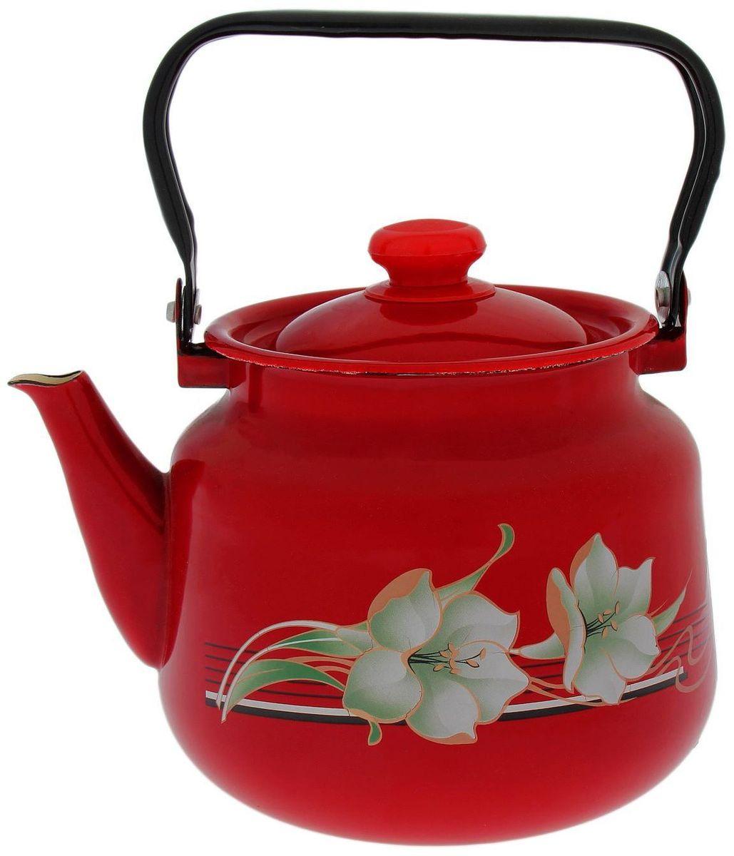 Чайник Epos Темно-красная лилия, 3,5 л1770691Согласитесь, и профессиональному повару, и любителю поэкспериментировать на кухне, и тому, кто к стряпанью не имеет никакого отношения, не обойтись без элементарных предметов, столовые принадлежности, аксессуары для приготовления и хранения пищи — незаменимые вещи для всех, кто хочет порадовать свою семью аппетитными блюдами. Душевная атмосфера и со вкусом накрытый стол всегда будут собирать в вашем доме близких и друзей.