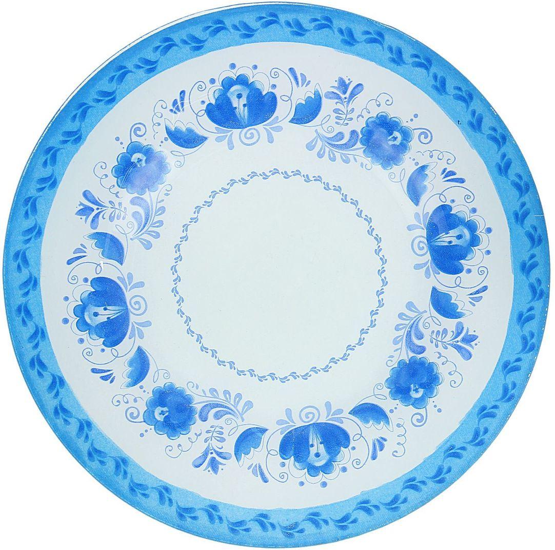 Тарелка десертная Доляна Гжель, диаметр 20 см1571460Столовая посуда с природными мотивами в оформлении разнообразит интерьер кухни и сделает застолье самобытным и запоминающимся. Достоинства: качественное стекло не впитывает запахов; гладкая поверхность обеспечивает лёгкость мытья; яркий дизайн порадует ценителей стиля фолк. Рекомендуется избегать использования абразивных моющих средств. Делайте любимый дом уютнее!
