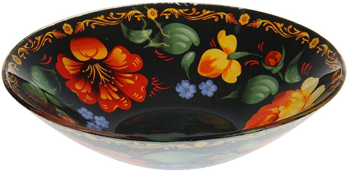 Тарелка глубокая Доляна Жостово, диаметр 20 см1571469Столовая посуда с природными мотивами в оформлении разнообразит интерьер кухни и сделает застолье самобытным и запоминающимся. Достоинства: качественное стекло не впитывает запахов; гладкая поверхность обеспечивает лёгкость мытья. Рекомендуется избегать использования абразивных моющих средств. Делайте любимый дом уютнее!