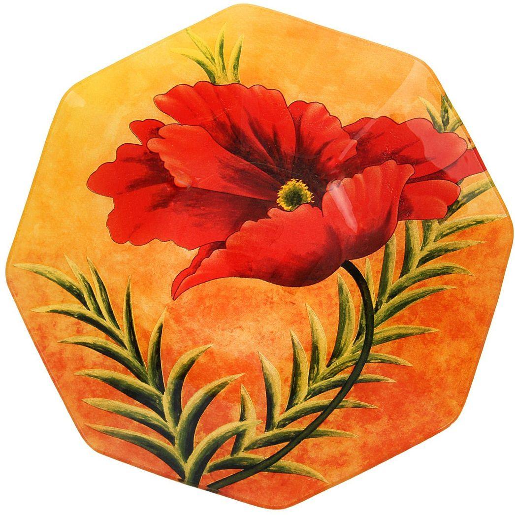 Тарелка глубокая Доляна Мак на желтом, диаметр 22 см230252Столовая посуда с природными мотивами в оформлении разнообразит интерьер кухни и сделает застолье самобытным и запоминающимся. Достоинства: качественное стекло не впитывает запахов; гладкая поверхность обеспечивает лёгкость мытья. Рекомендуется избегать использования абразивных моющих средств. Делайте любимый дом уютнее!