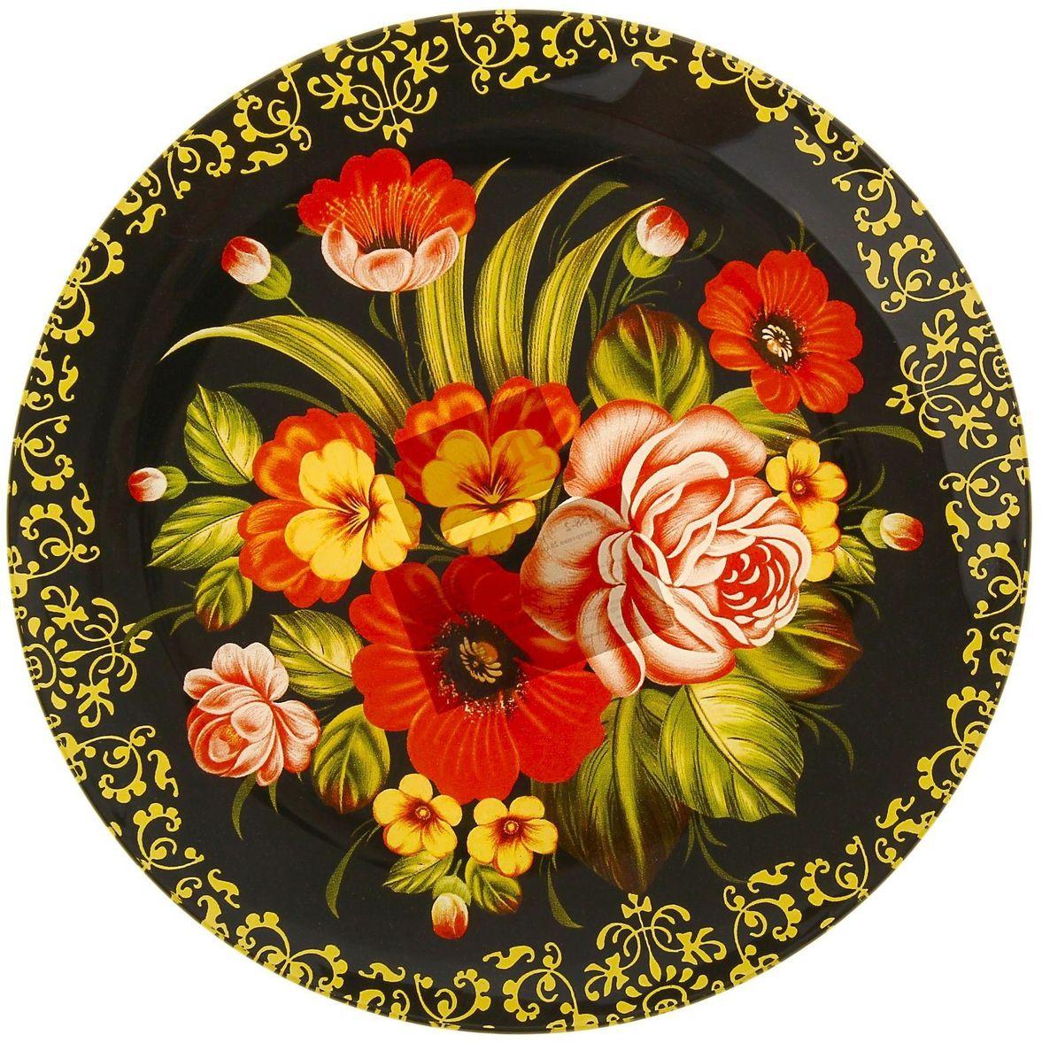 Тарелка десертная Доляна Русский узор, диаметр 20 см230465Столовая посуда с природными мотивами в оформлении разнообразит интерьер кухни и сделает застолье самобытным и запоминающимся. Достоинства: качественное стекло не впитывает запахов; гладкая поверхность обеспечивает лёгкость мытья; яркий дизайн порадует ценителей стиля фолк. Рекомендуется избегать использования абразивных моющих средств. Делайте любимый дом уютнее!