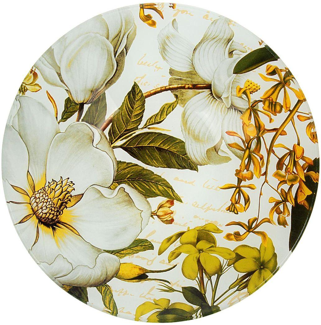 Тарелка глубокая Доляна Ветвь жасмина, диаметр 20 см230468Столовая посуда с природными мотивами в оформлении разнообразит интерьер кухни и сделает застолье самобытным и запоминающимся. Достоинства: качественное стекло не впитывает запахов; гладкая поверхность обеспечивает лёгкость мытья. Рекомендуется избегать использования абразивных моющих средств. Делайте любимый дом уютнее!