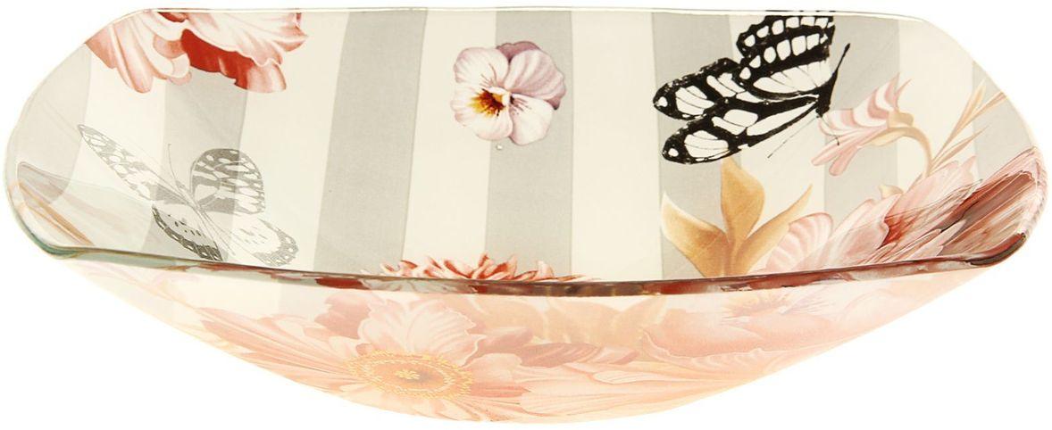 Тарелка глубокая Доляна Полоска, диаметр 20 см230496Столовая посуда с природными мотивами в оформлении разнообразит интерьер кухни и сделает застолье самобытным и запоминающимся. Достоинства: качественное стекло не впитывает запахов; гладкая поверхность обеспечивает лёгкость мытья. Рекомендуется избегать использования абразивных моющих средств. Делайте любимый дом уютнее!