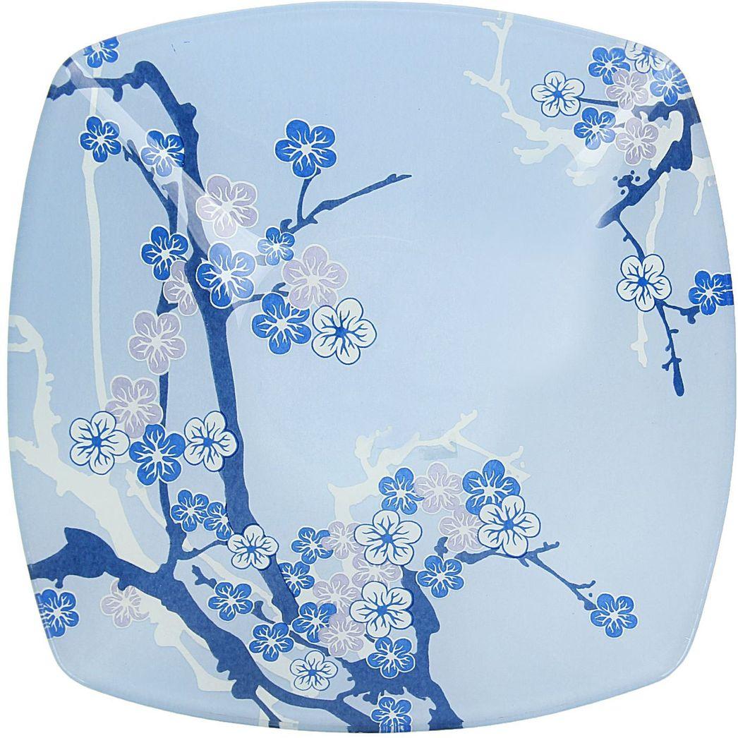 Тарелка глубокая Доляна Сакура, диаметр 20 см230497Столовая посуда с природными мотивами в оформлении разнообразит интерьер кухни и сделает застолье самобытным и запоминающимся. Достоинства: качественное стекло не впитывает запахов; гладкая поверхность обеспечивает лёгкость мытья. Рекомендуется избегать использования абразивных моющих средств. Делайте любимый дом уютнее!