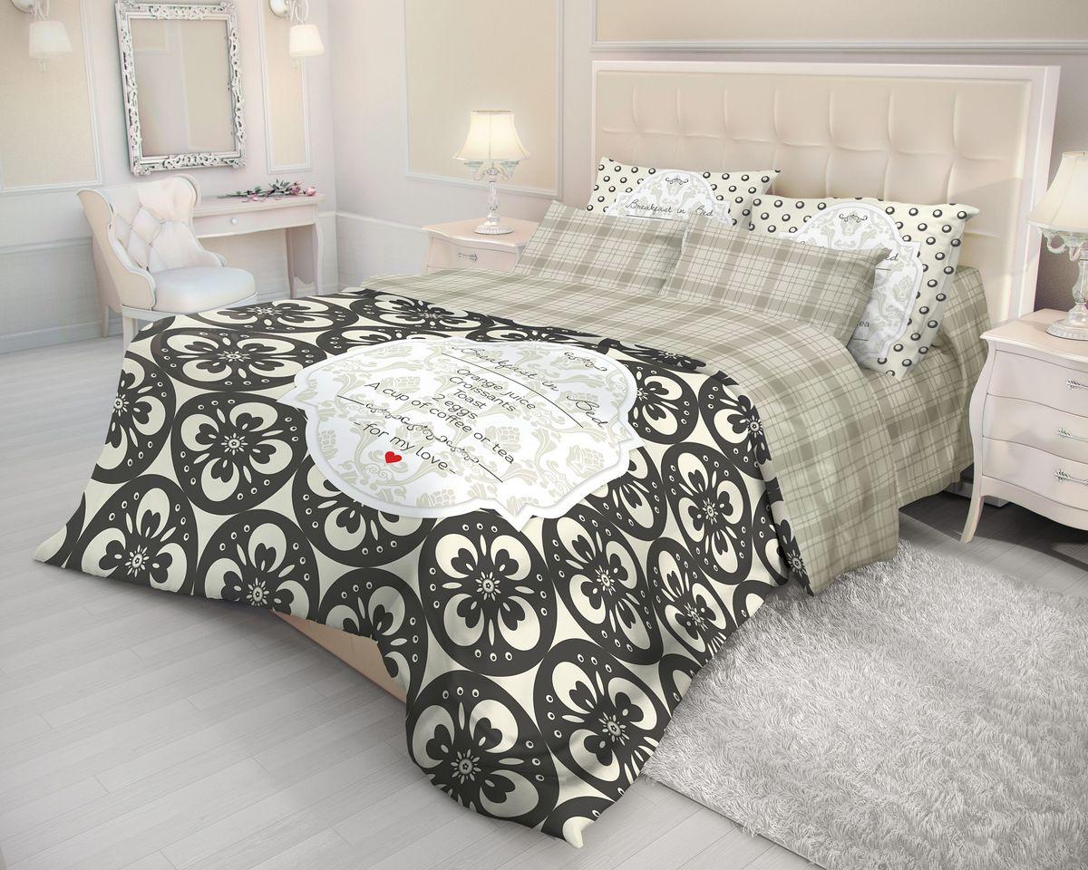 Комплект белья Волшебная ночь Breakfast, 2-спальный, наволочки 70х70. 710599710599