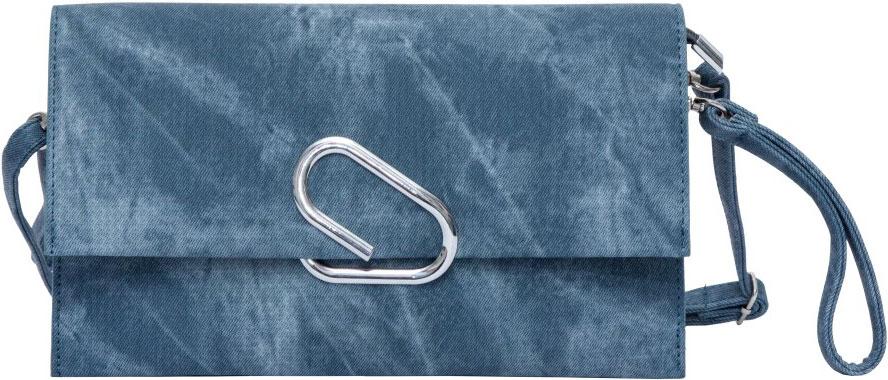 Клатч женский OrsOro, цвет: синий. D-019/3D-019/3Клатч женский OrsOro выполнен из искусственной кожи. Изделие оснащено съемным плечевым ремнем, длина которого регулируется с помощью пряжки. Также сумка имеет съемный ремешок, с помощью которого изделие можно носить на запястье. Сумка закрывается клапаном на металлический фиксатор. Внутри расположено два отделения, одно из которых закрывается на молнию. Также внутри расположен один вшитый карман на молнии.