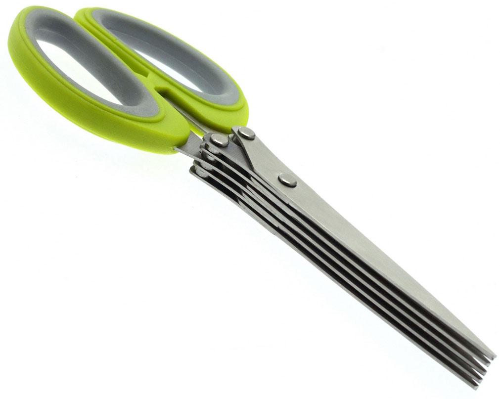 Ножницы кухонные для зелени JJA, цвет: зеленый, 12,5 х 20 х 2,5 см111115CУдобные и стильные ножницы кухонные ножницы. Сразу десять острых лезвий помогут легко и быстро измельчить зелень для Ваших любимых салатов. В комплекте щёточка для чистки.