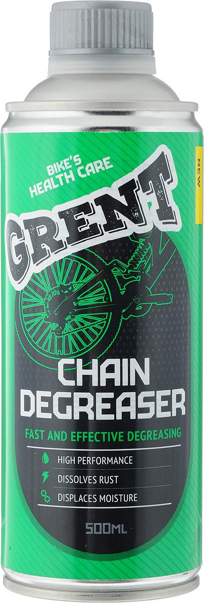 Очиститель цепи для машинок Grent, 500 мл40486Grent - специальный очиститель на основе высокоэффективной комбинации растворителей, обеспечивающий быструю и эффективную очистку и обезжиривание различных конструкционных элементов двухколесных транспортных средств. Очиститель специально разработан для очистки цепей мотоциклов, велосипедов, мотороллеров и мопедов при помощи специализированных машинок для чистки цепи. Подходит для очистки цепей с кольцеобразными звеньями. Товар сертифицирован.