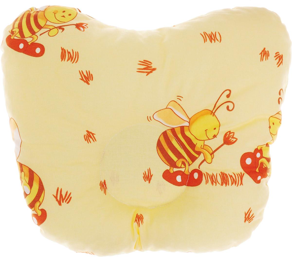 Сонный гномик Подушка анатомическая для младенцев Пчелы 27 х 27 см