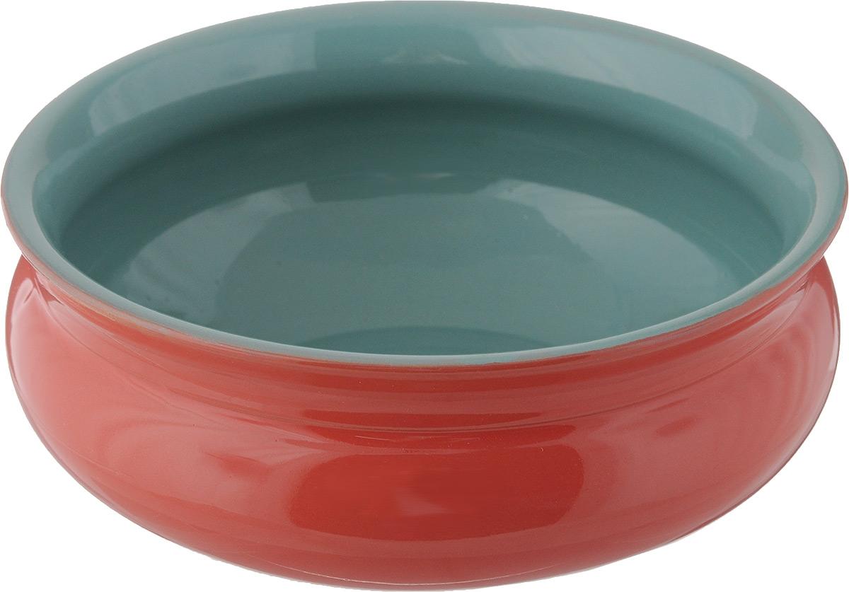Тарелка глубокая Борисовская керамика Скифская, цвет: красный, бирюзовый, 800 млРАД14457937_красный, бирюзовыйТарелка глубокая Борисовская керамика Скифская, цвет: красный, бирюзовый, 800 мл